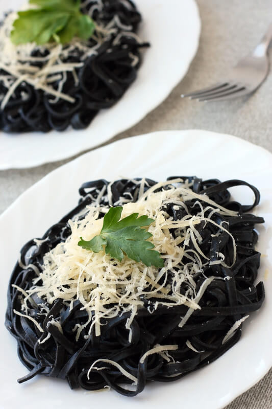 Black Poop - Squid Ink Pasta