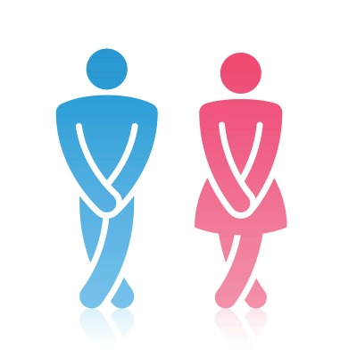 Irritable Bowel Syndrome Symptoms - Diagram of Man and Woman Toilet Sign