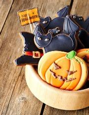 Black Halloween Cookies
