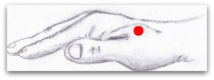 Right Hand with Large Intestine 4 Accupressure Point