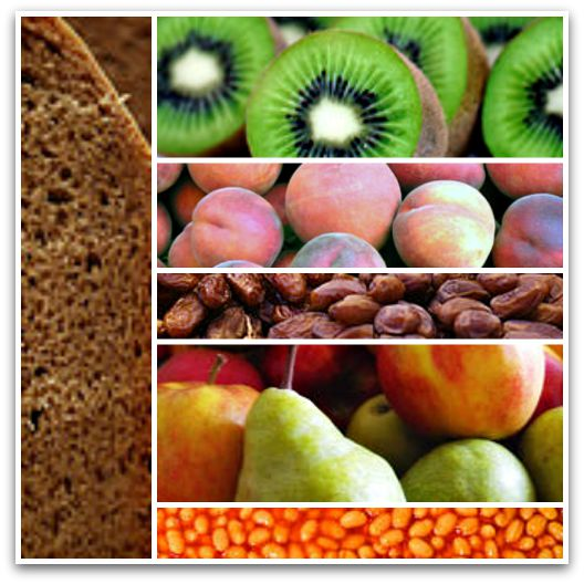 Constipation Treatment - Collage of Foods