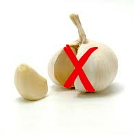 Garlic with Red Cross