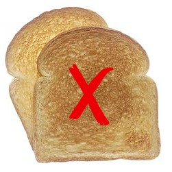 Toasted White Bread with Red Cross