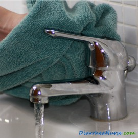 Hand Washing Tips - Turning Off Faucet/Tap With Towel