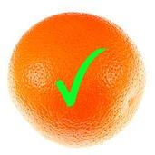 Low Fodmap Diet - Orange with Green Tick