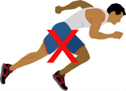 Cartoon Man Running With Red Cross Showing How To Avoid Colonoscopy Side Effects