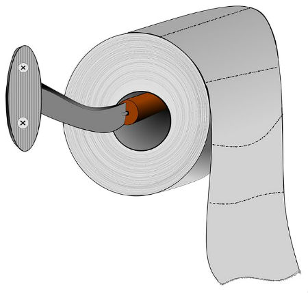 Cartoon of toilet paper.