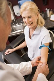 Inflammatory Bowel Disease - Woman Having Blood Test
